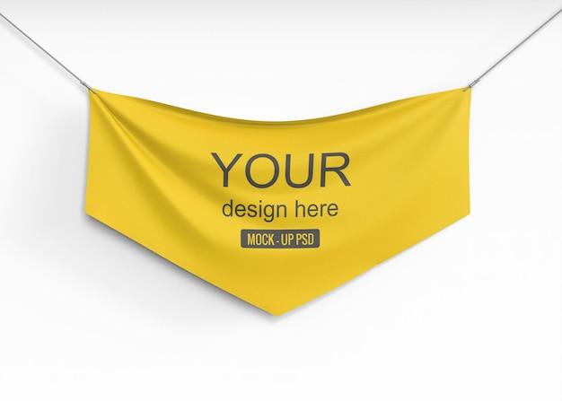 Maquete de banner têxtil