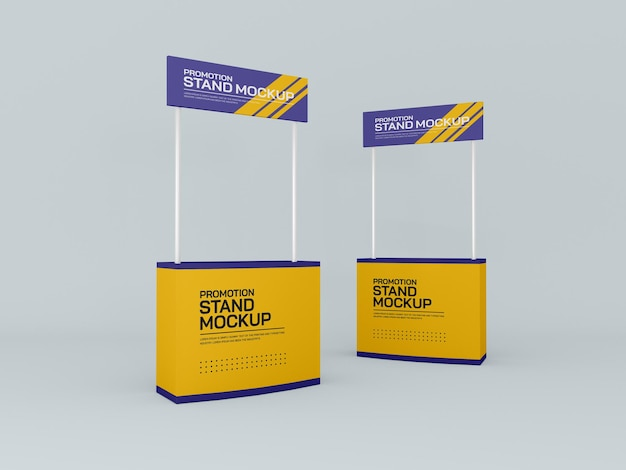 Maquete de banners de estandes de eventos promocionais