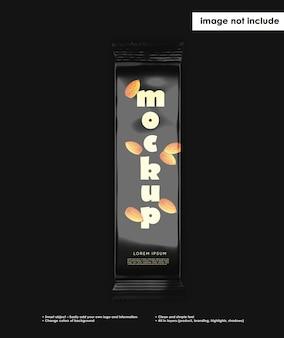 Maquete de barra de chocolate doce
