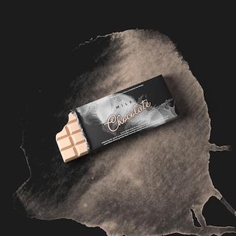 Maquete de barra de chocolate