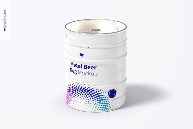 Maquete de barril de cerveja de metal