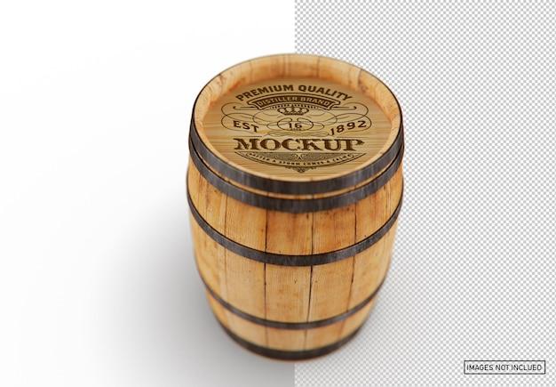 Maquete de barril de madeira