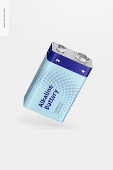 Maquete de bateria alcalina de 9v