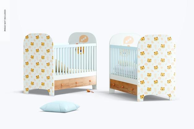 Maquete de berços para bebês