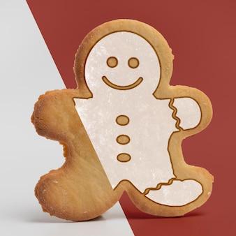 Maquete de biscoito de gengibre delicioso
