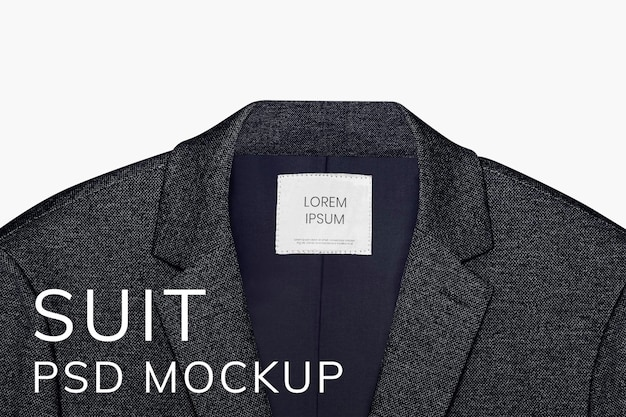 Maquete de blazer masculino psd business wear moda