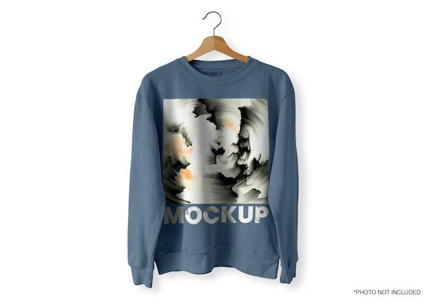 Maquete de blusa azul frontal