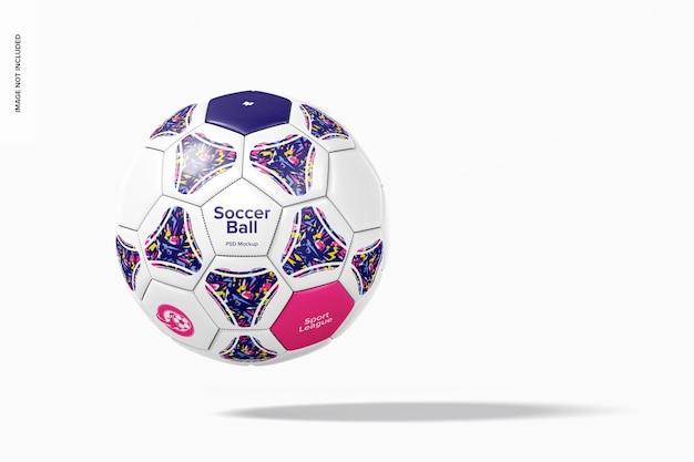 Maquete de bola de futebol, flutuante