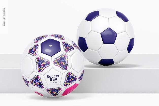 Maquete de bolas de futebol