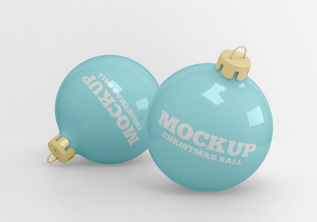 Maquete de bolas de natal