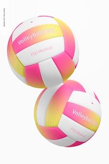 Maquete de bolas de voleibol flutuantes