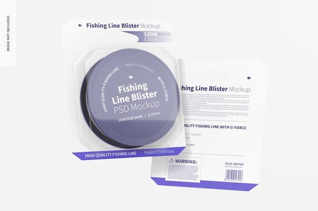 Maquete de bolhas de linha de pesca