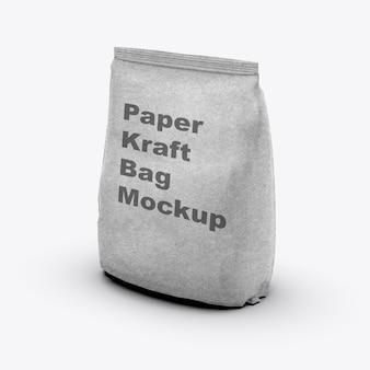 Maquete de bolsa artesanal isolada