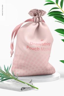 Maquete de bolsa com cordão