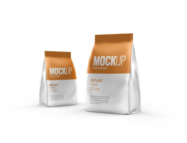 Maquete de bolsa de café realista