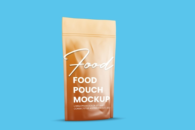 Maquete de bolsa de comida brilhante