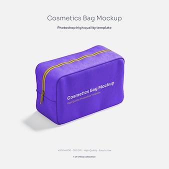 Maquete de bolsa de cosméticos