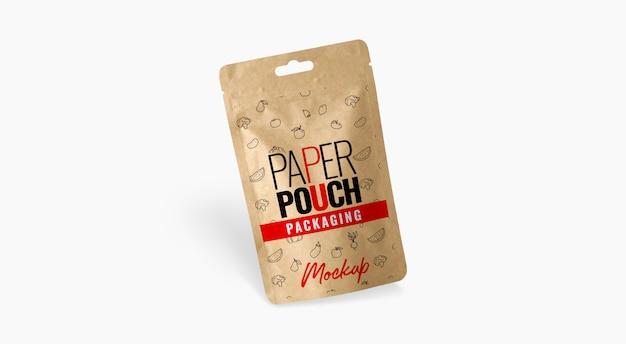 Maquete de bolsa de papel de saco