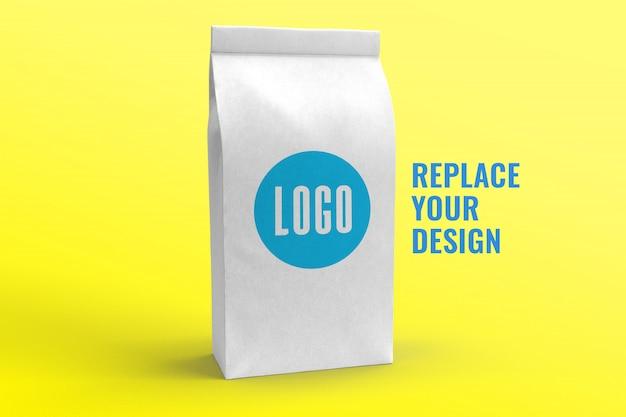 Maquete de bolsa de papel realista