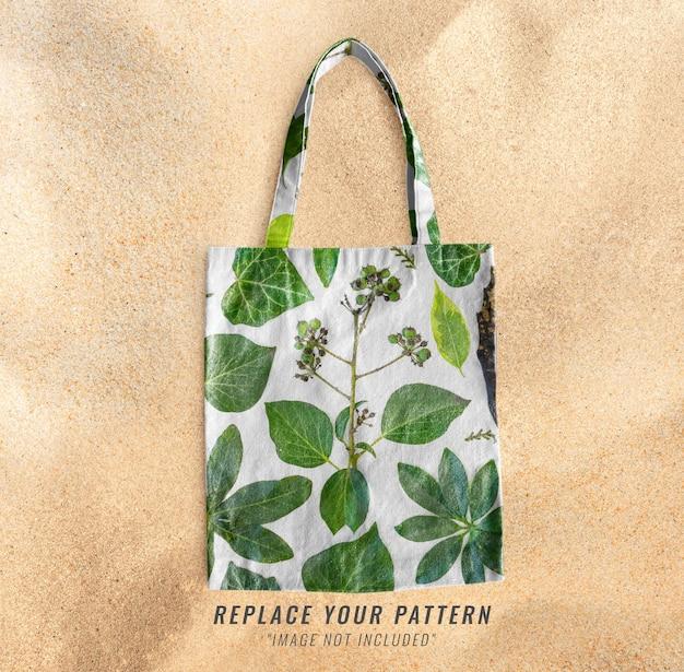 Maquete de bolsa de praia realista