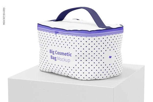 Maquete de bolsa grande de cosméticos
