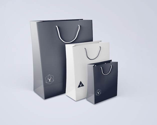 Maquete de bolsa para merchandising