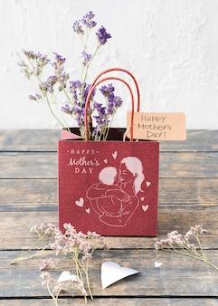 Maquete de bolsa para o dia das mães