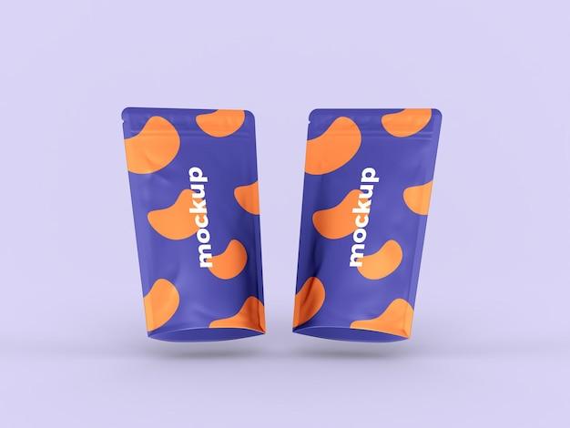 Maquete de bolsa realista em pé Psd Premium