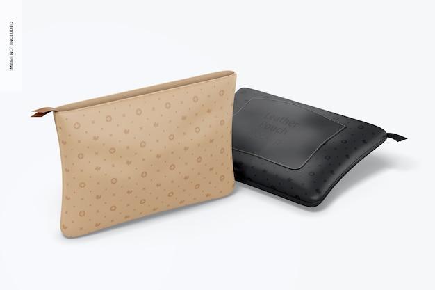 Maquete de bolsas de couro