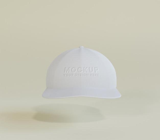 Maquete de boné de beisebol branco