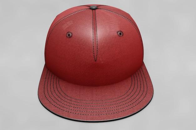 Maquete de boné de beisebol vermelho