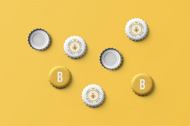 Maquete de boné de cerveja