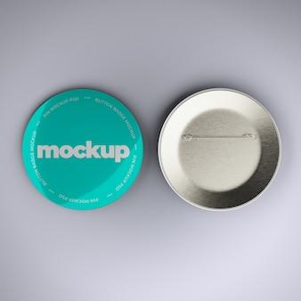 Maquete de botão distintivo
