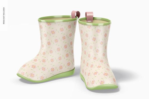 Maquete de botas de chuva infantil