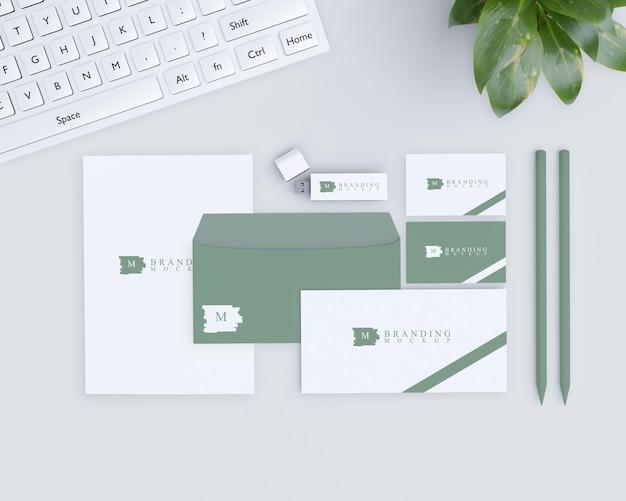 Maquete de branding com design natural