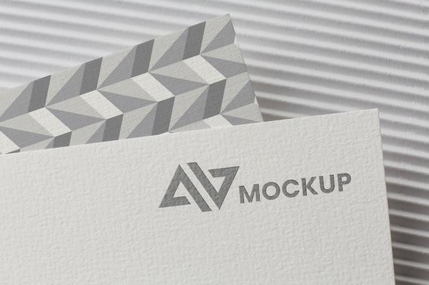 Maquete de branding na composição do cartão