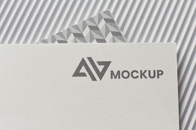 Maquete de branding na variedade de cartões