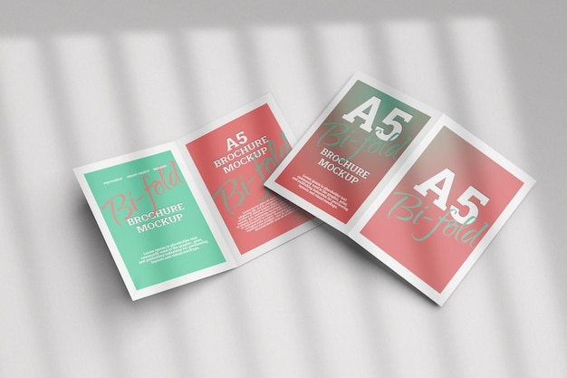 Maquete de brochura a5 bifold