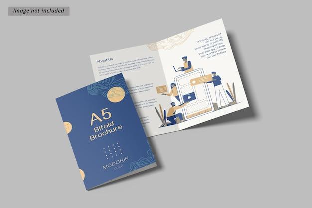 Maquete de brochura bifold a5