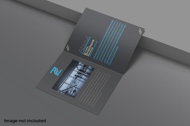 Maquete de brochura bifold isolada