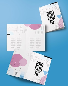 Maquete de brochura bifold simples isolada