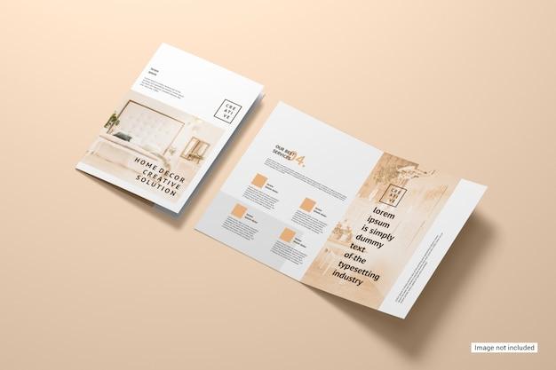 Maquete de brochura bifold