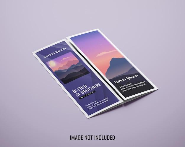 Maquete de brochura com dobra do portão