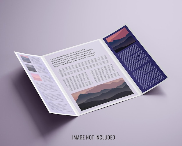 Maquete de brochura com portão aberto