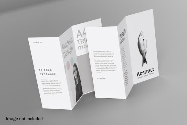 Maquete de brochura com três dobras duplas