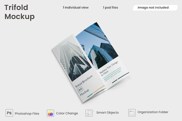 Maquete de brochura com três dobras premium psd