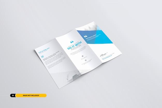 Maquete de brochura com três dobras