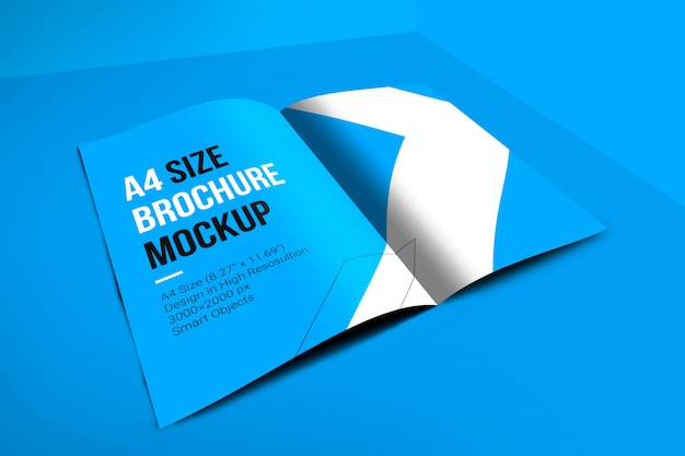 Maquete de brochura de capa a4
