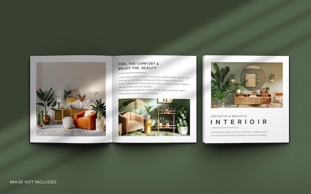 Maquete de brochura de catálogo quadrada bifold