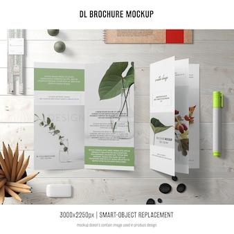Maquete de brochura de d retrato
